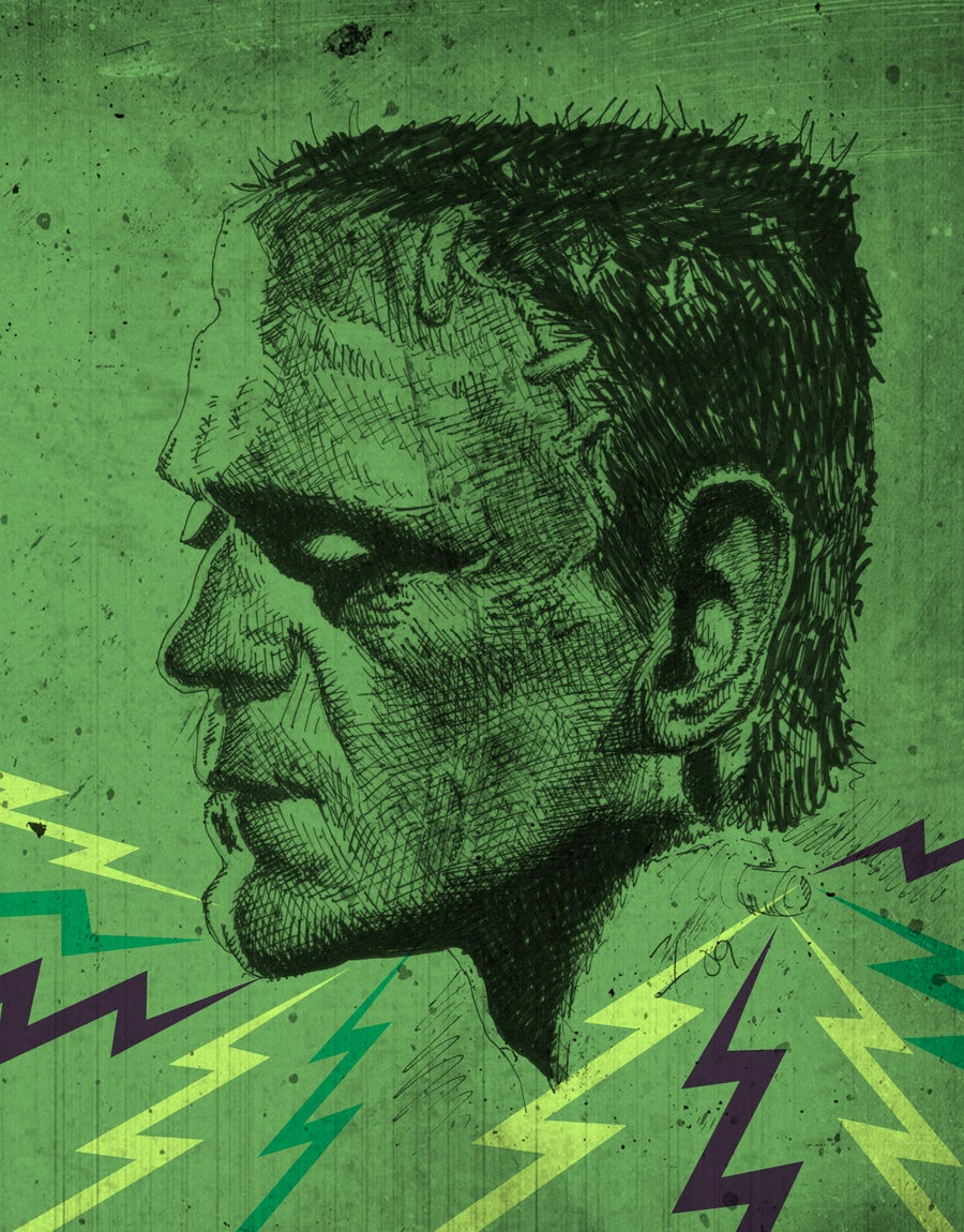 Image of Karloff's Frankenstein (Colour)