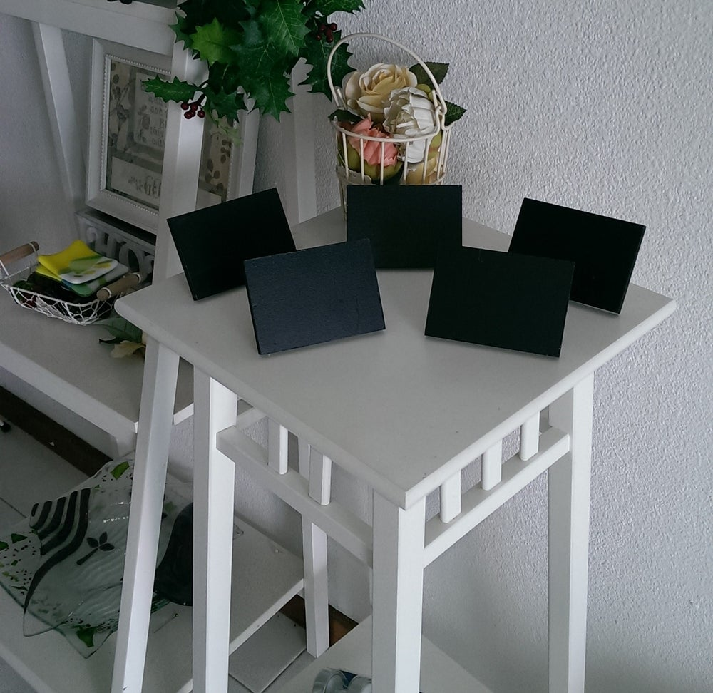 Image of 10 by 7 Slanting Table Top Chalkboard ( 5 per pkt)