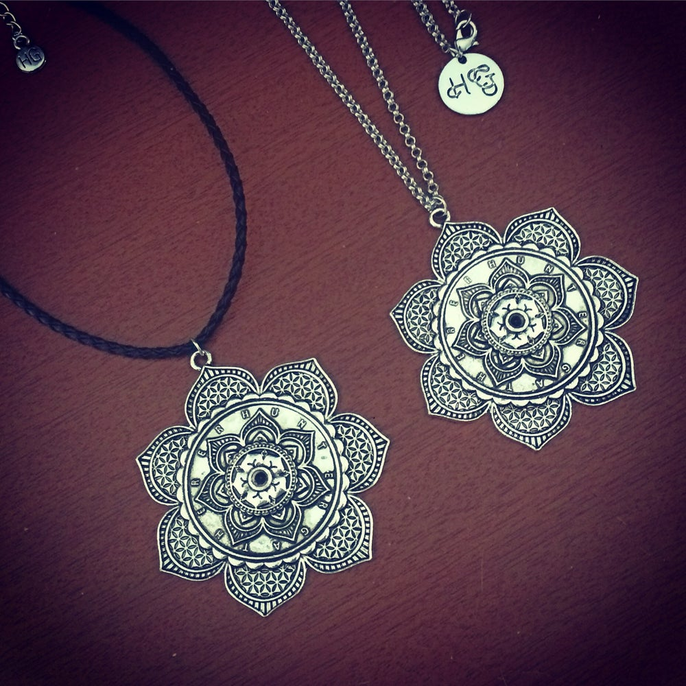 Image of Flower of life mandala necklace & choker