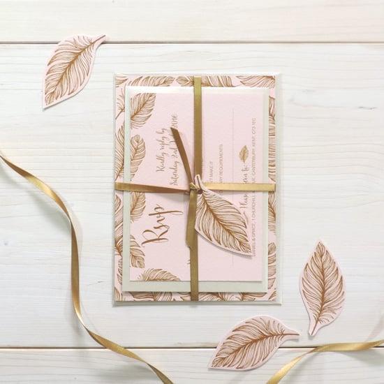 Image of Tickled Pink Bespoke Wedding Invitation and RSVP Bundle
