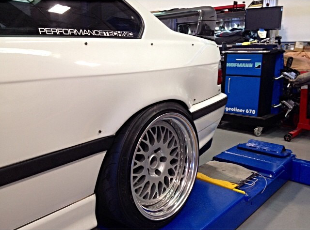 Image of E36 Coupe Overfender - Rear