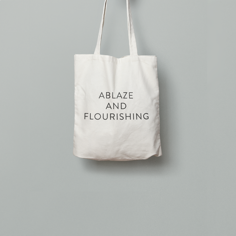 Image of Ablaze And Flourishing Tote Bag