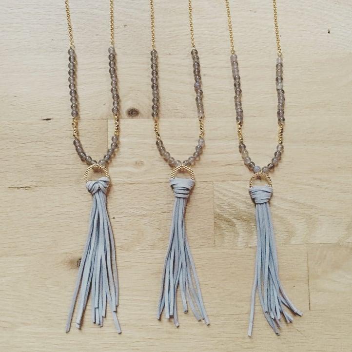 Image of Suede Tassle Necklace