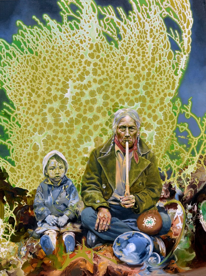"""Image of """"Sitting With Grandfather"""" Giclée Print"""