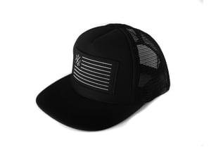 "Image of ""SpeedCorps"" Trucker Hat, Black (P1B-T0512)"