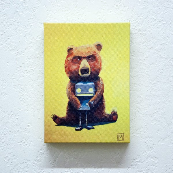 Bear and Robot I - Matt Q. Spangler Illustration