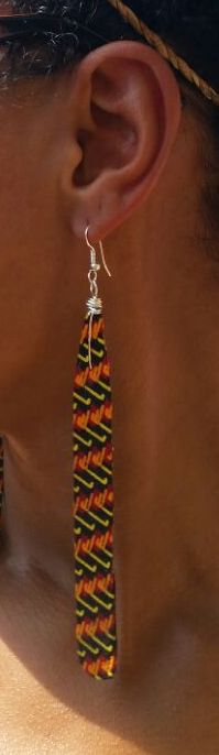 Image of Long Drop Ankara Earrings