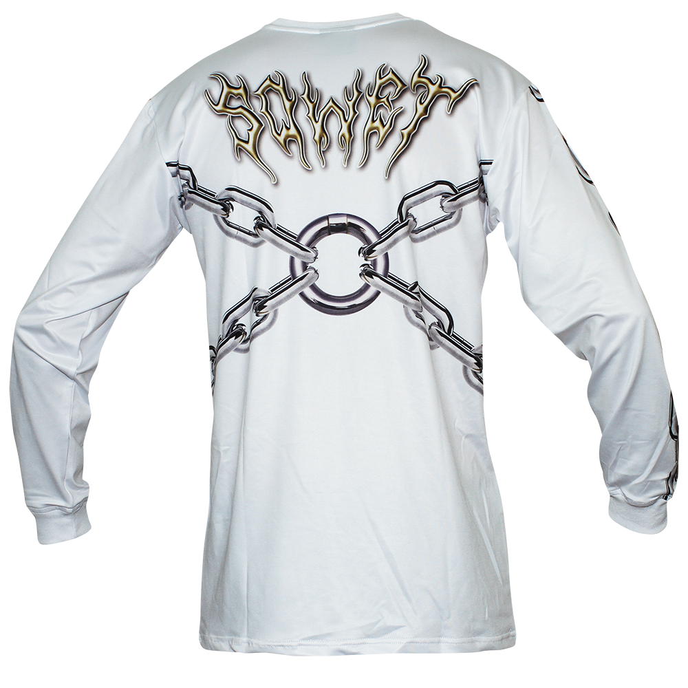 Image of LOCKED UP WHITE LONG SLEEVE