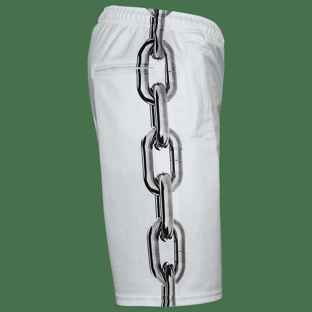 Image of LOCKED UP WHITE SHORTS