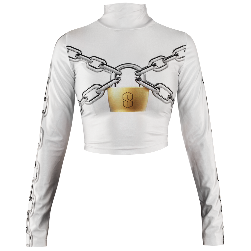 Image of LOCKED UP WHITE TURTLENECK
