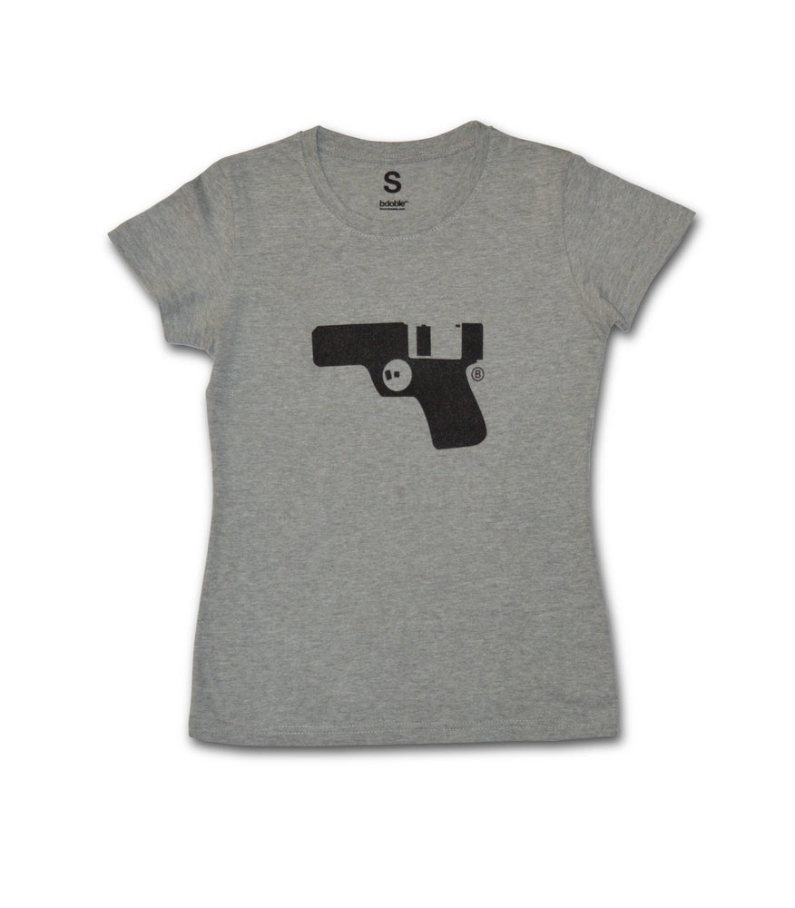 Image of WOMAN T-shirt Floppy Gun