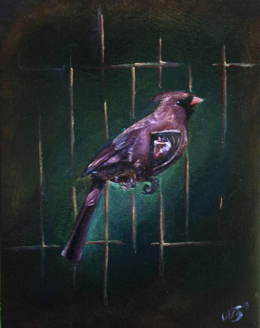 Image of Bird Caged Sings The I Know Why
