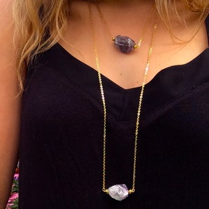 Image of Nymphai Pendant - chunky fluorite crystal - 3 styles available