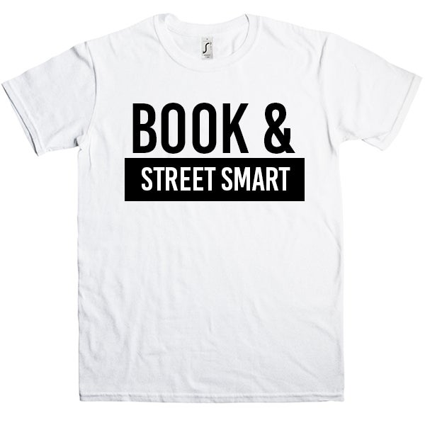 Image of Book & street smart (Unisex) shirt