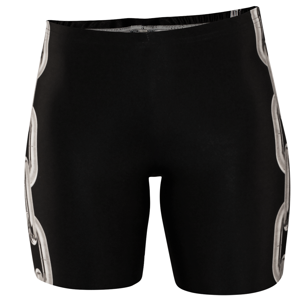 Image of LOCKED UP BLACK BIKER SHORTS