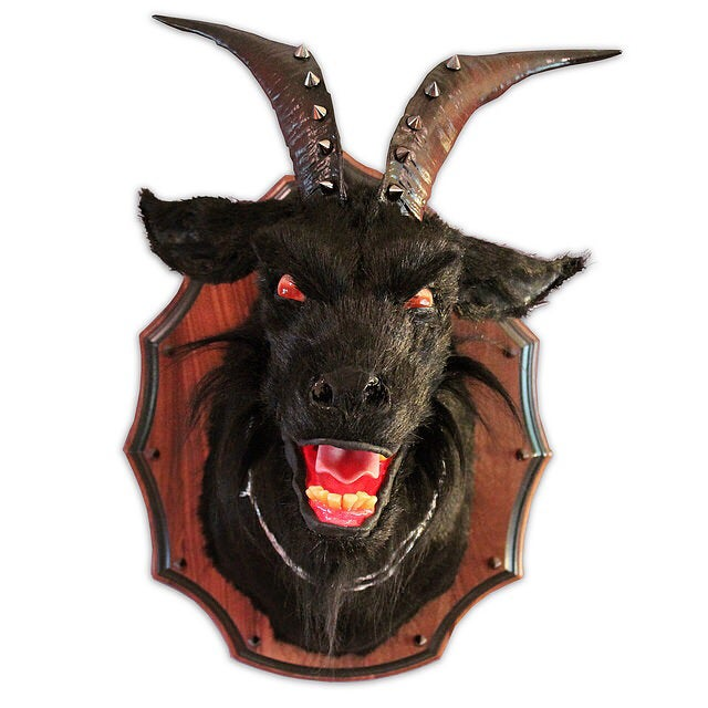 Image of 'Rage' Goat original sculpture