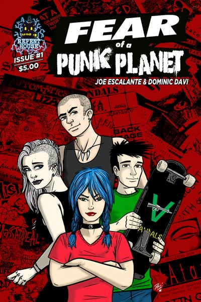 Image of Fear Of A Punk Planet Comic Book: Issue 1 Limited First Printing, AUTOGRAPHED (Zodys Exclusive!)