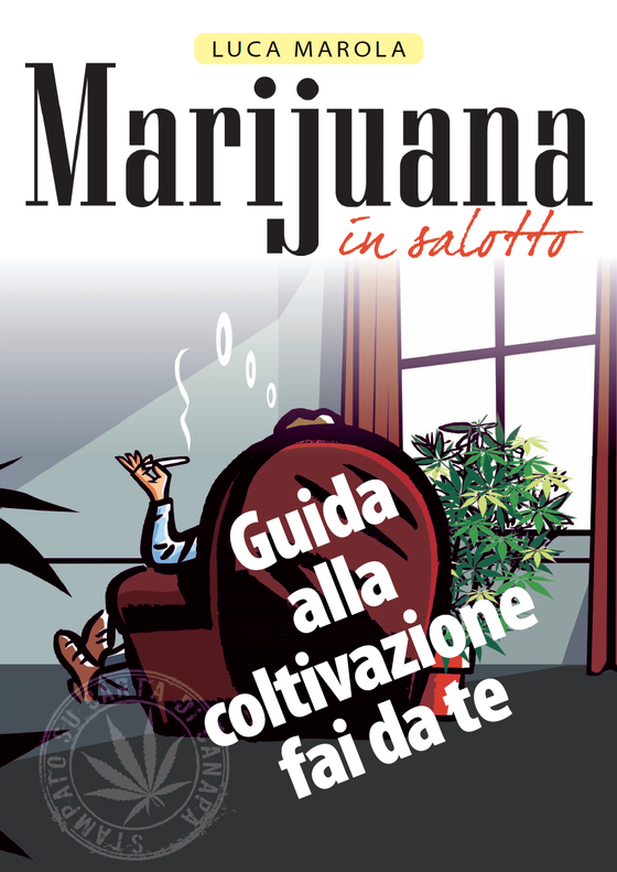 Image of Libro Marijuana in salotto