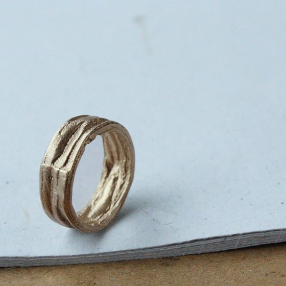 Image of Compressed Gold Ring