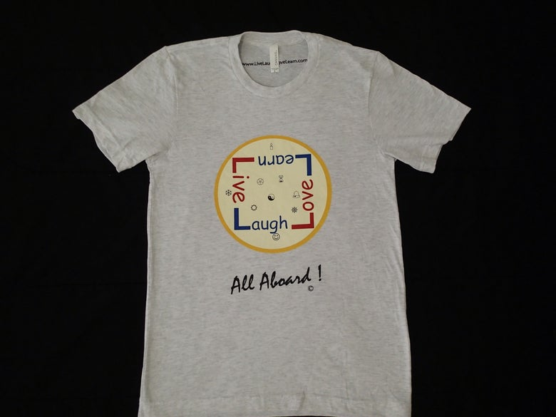 Image of Men's T-shirt - ash - Live Laugh Love Learn - All Aboard