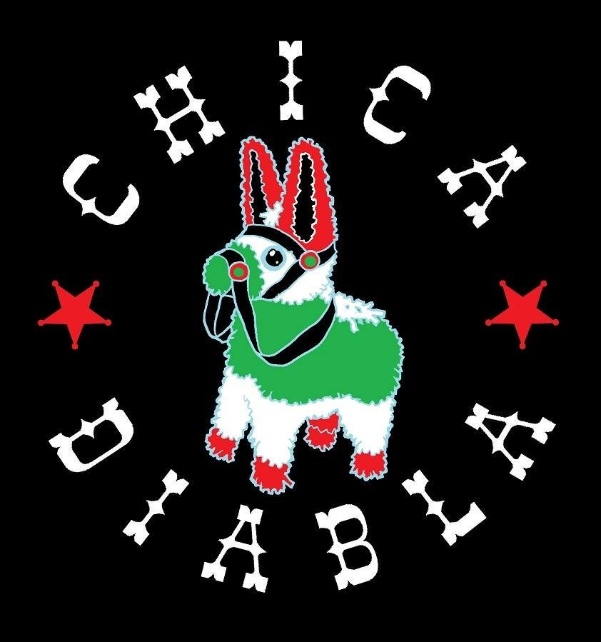 Image of Chica Diabla Piñata logo T-Shirt - Men's and Women's sizes
