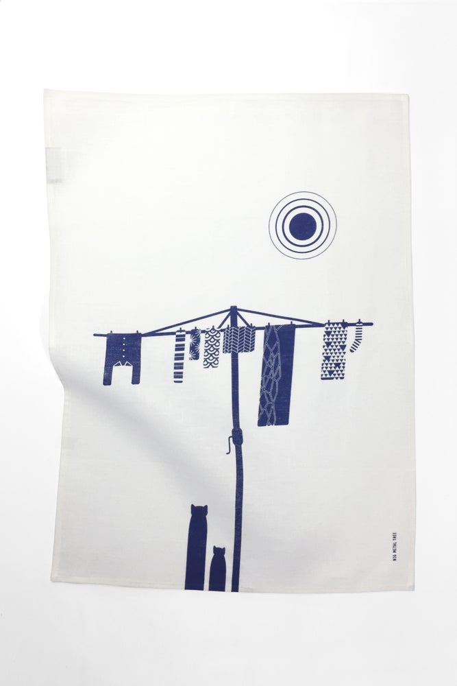 Image of Big Metal Tree - Tea Towel