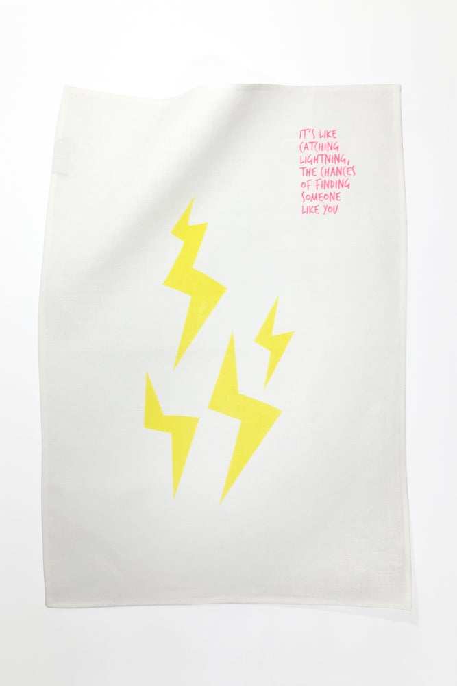 Image of Lightning - Tea Towel