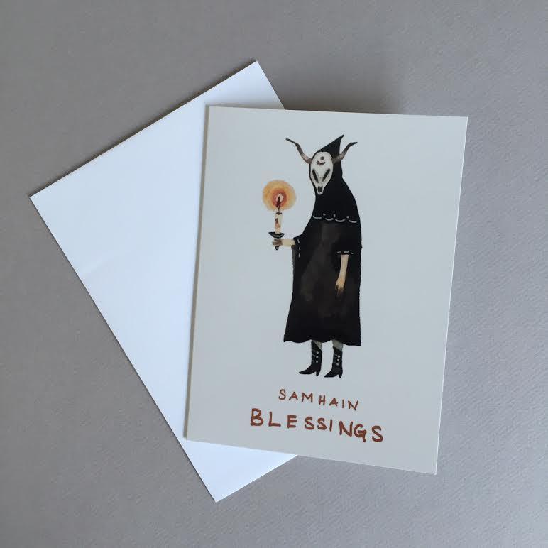 Image of Samhain Blessings blank card