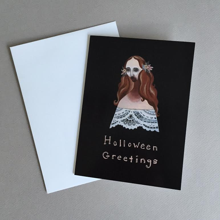 Image of Halloween Greetings blank card (Lucy)