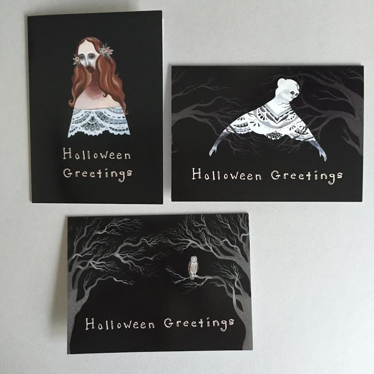 Image of Halloween Greetings Set