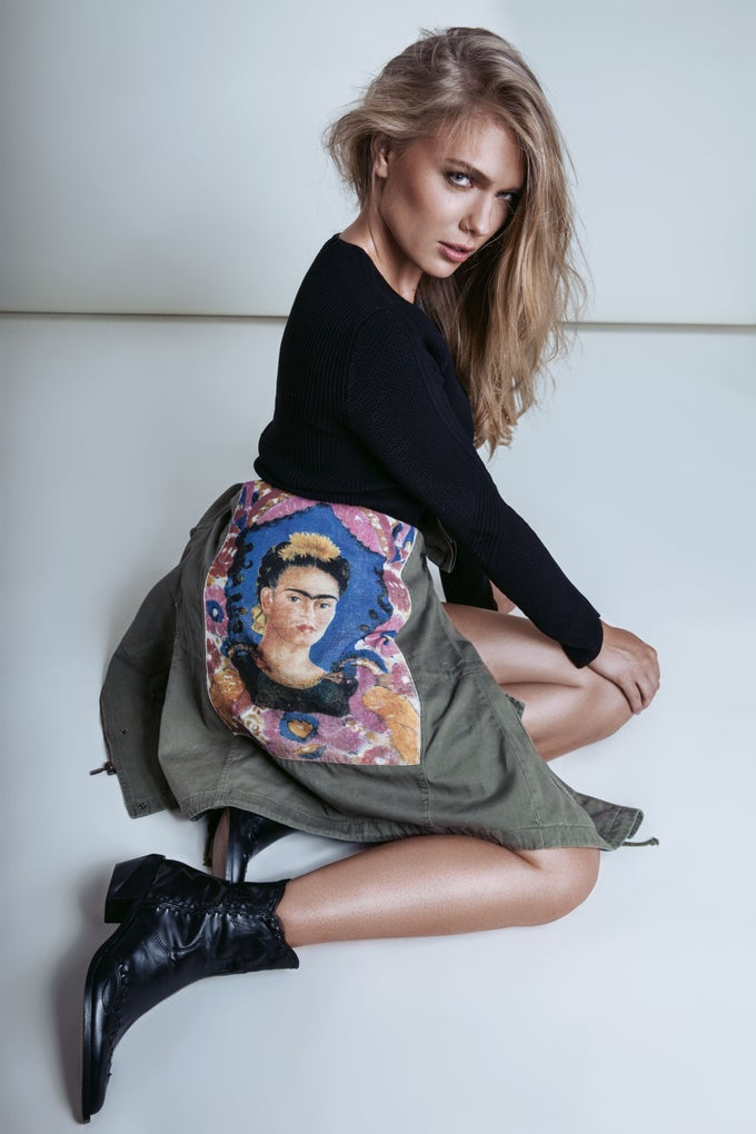Image of FYEO Frida Backpiece Parka Pink