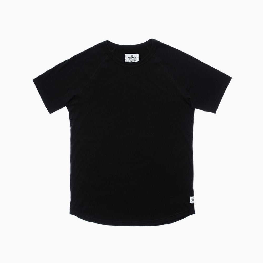 Image of Reigning Champ SS Raglan Tee - BLACK