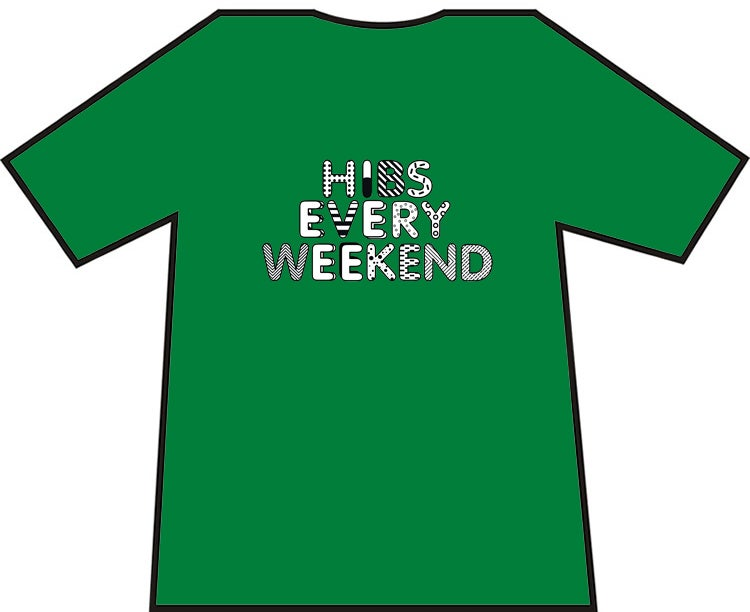 Image of Hibs Every Weekend T-shirt.