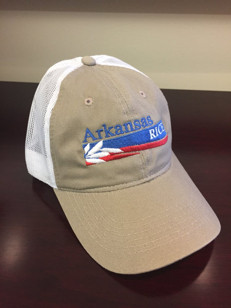 Image of Arkansas Rice Logo Ball Cap - Khaki