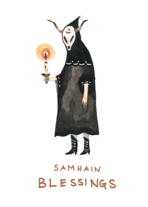 Image of Samhain Blessings blank card