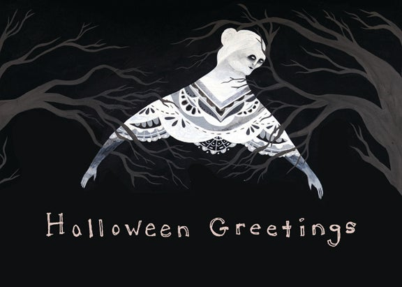 Image of Halloween Greetings blank card (ghostie)