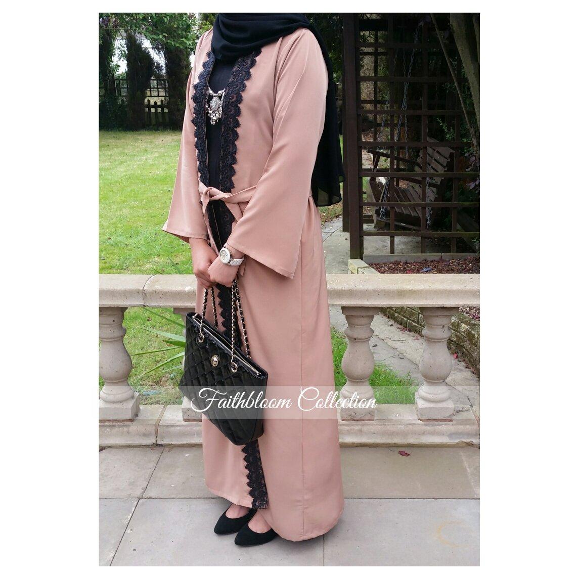 Image of FBC Exclusive Blush Kimono Abaya