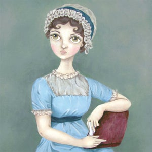 Image of Jane Austen 11x14 print