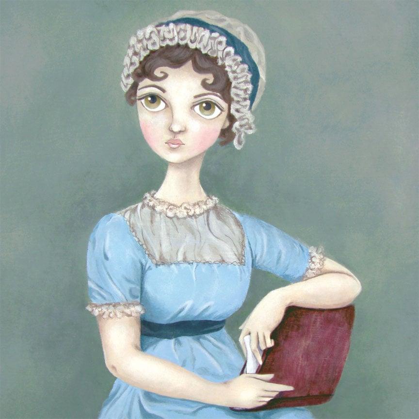 Image of Jane Austen 8x10 print