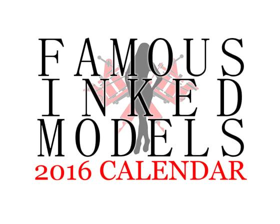 Image of Famous Inked Models 2016 Calendar