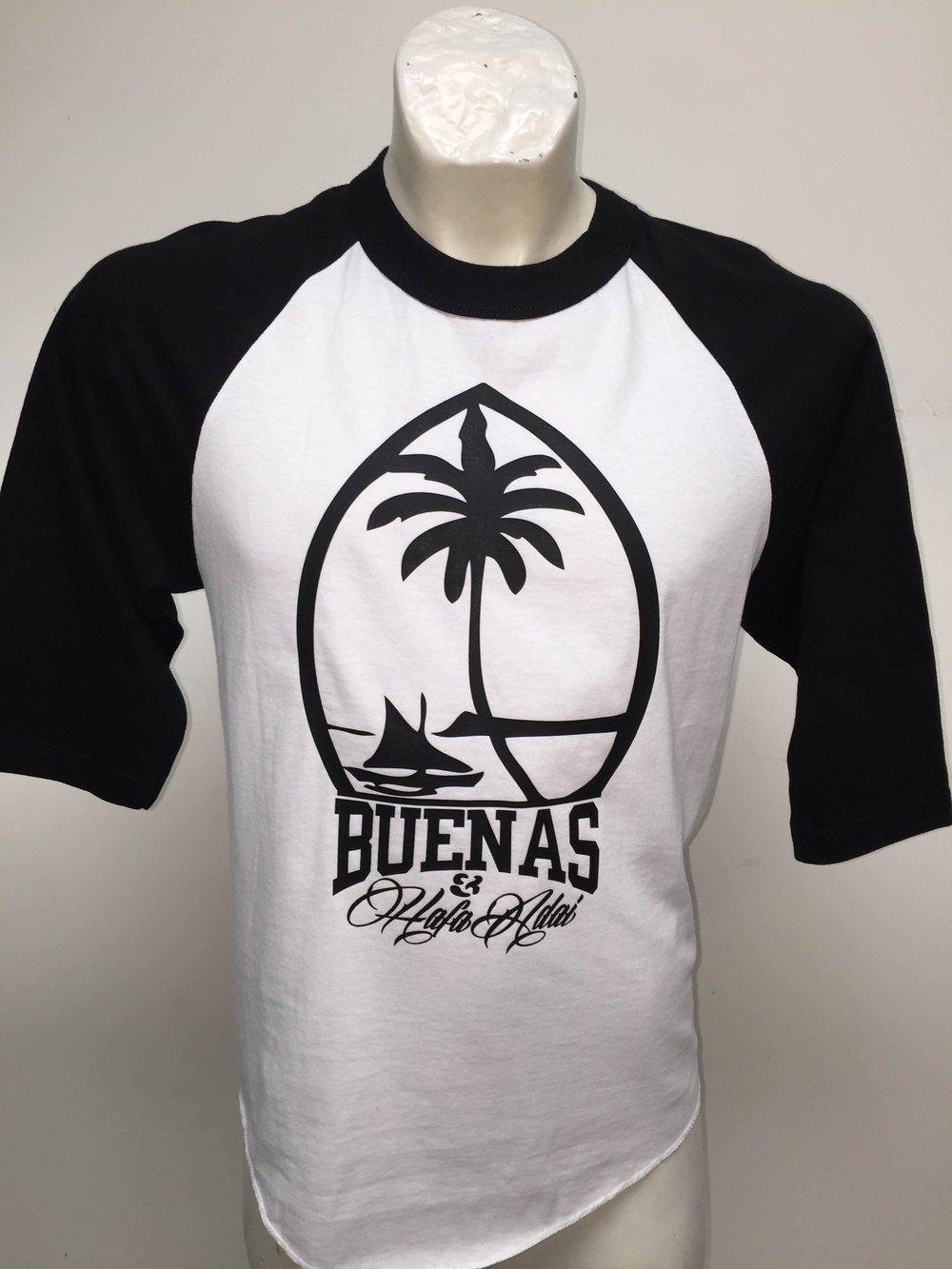 Image of Buenas & Hafa Adai: Guam Seal (White/Black)