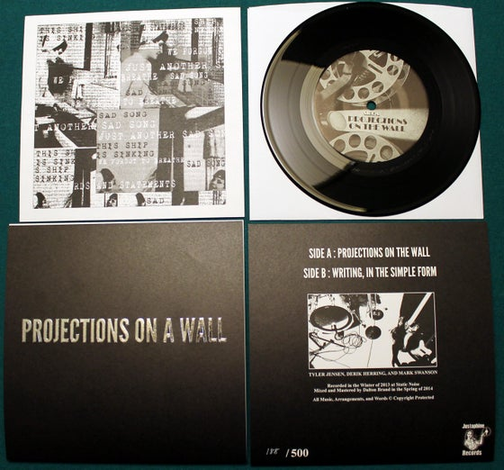 """Image of Projections On A Wall - Untitled 7"""" Record J-001"""