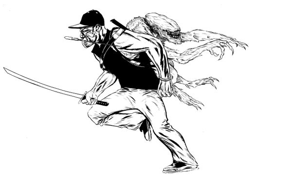 Image of Attack the Block! original art work Finn