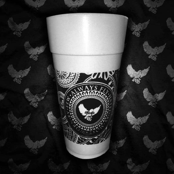 Image of Black Bandana Styrofoam Cup (5 For $20.00)