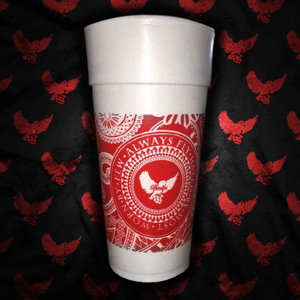 Image of Red Bandana Styrofoam Cup (5 For $20.00)
