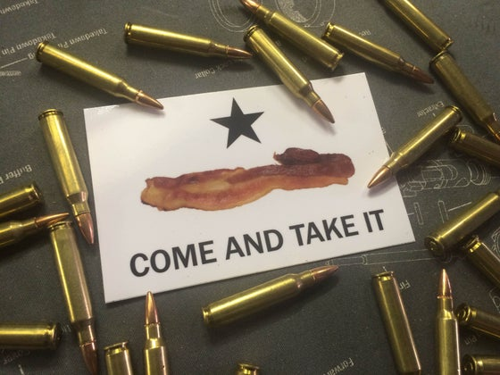 Image of Come and Take it Bacon Decal