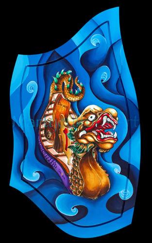Image of Champion River Dragon Original Painting