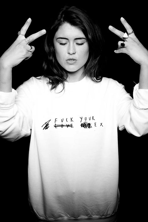 Image of FUCK YOUR EX Unisex SWEAT (White and Black)