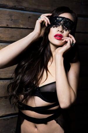Image of NATALIA Black silk Lace Eye mask