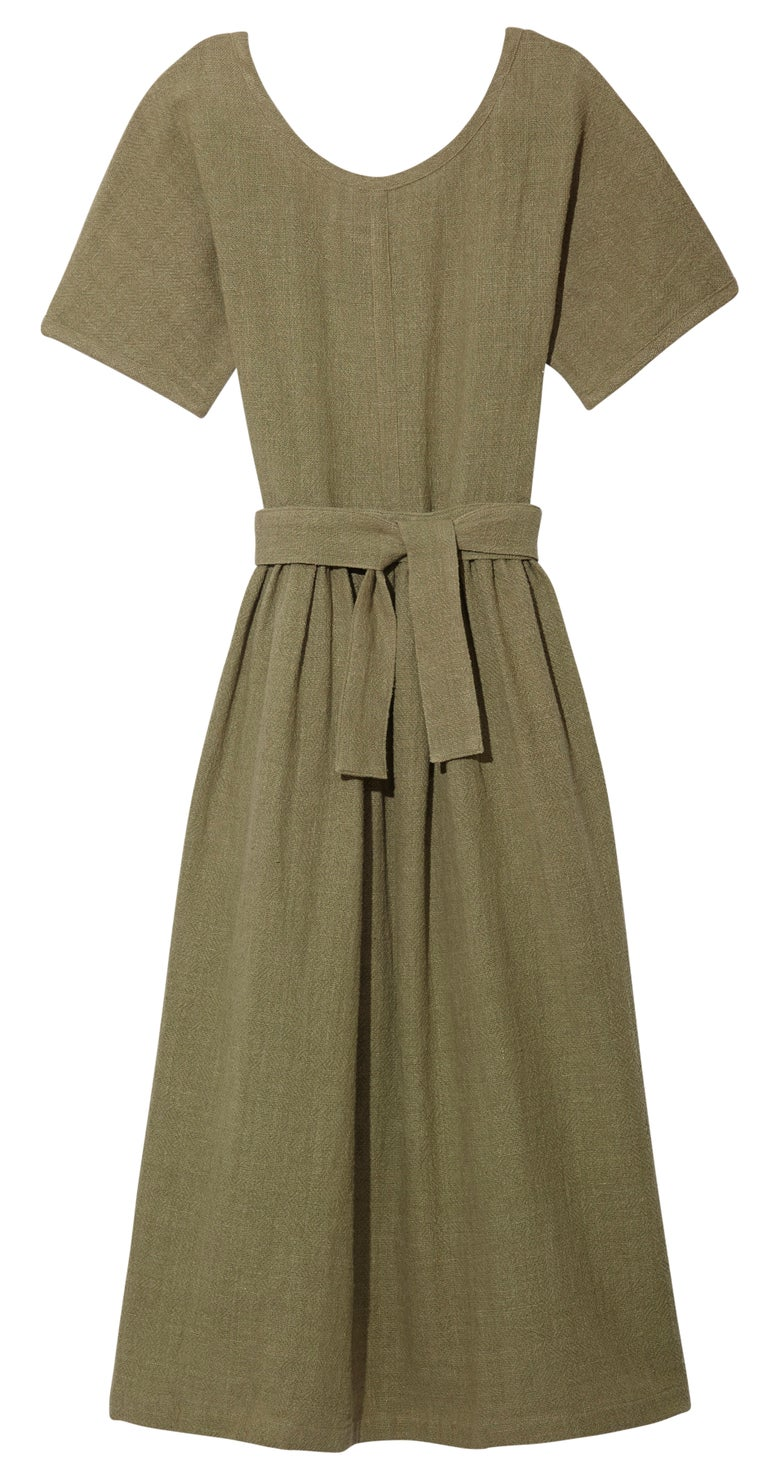 Image of SCOOP NECK DRESS OLIVE